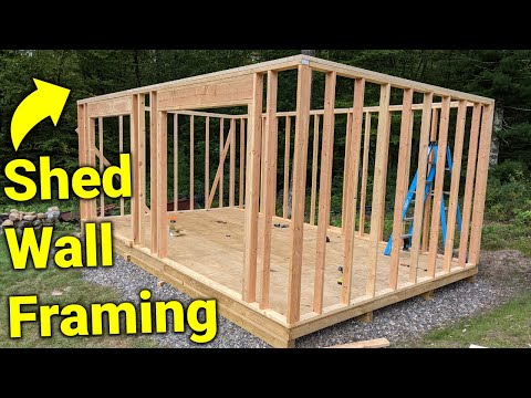 How I built a Shed: Framing the Walls
