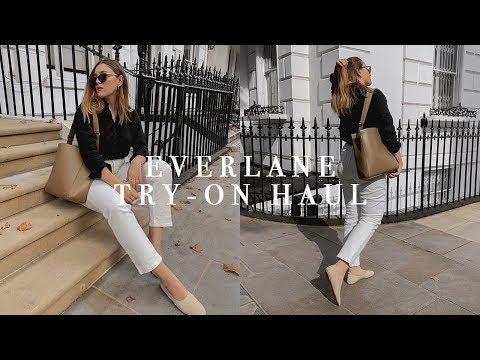 EVERLANE TRY-ON HAUL | SUSTAINABLE FASHION | AD | I COVET THEE