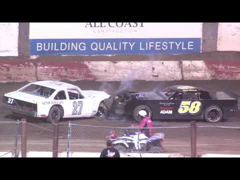 Perris Auto Speedway Street Stock Main Event 8-14-21 - dirt track racing video image