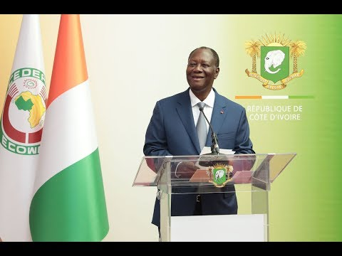 Point de presse du Président OUATTARA après un séjour à Niamey et à PARIS