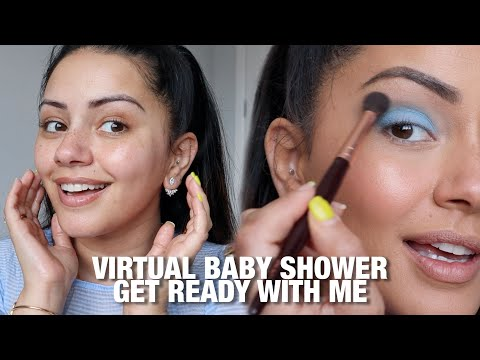 GET READY WITH ME FOR A ZOOM VIRTUAL BABY SHOWER | KAUSHAL BEAUTY x BOOTS | ad