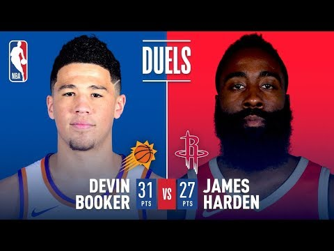 Devin Booker and James Harden Duel in Houston | January 28, 2018