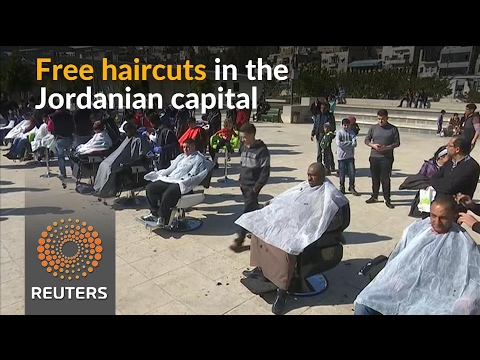 In Jordan's capital, volunteers offer free haircuts