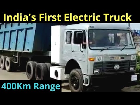 400 KM Range Electric Heavy Duty Truck Made in India