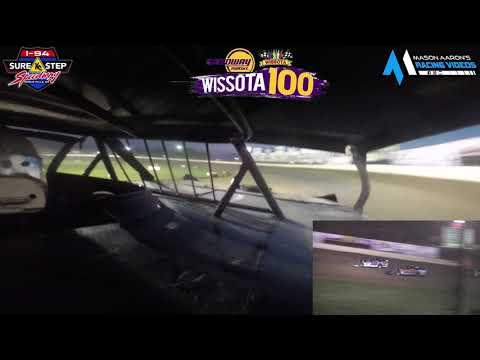 #15 Ryan Flaten WISSOTA Super Stock On-Board @ WISSOTA 100 (9/16/21) - dirt track racing video image