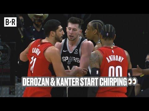 DeMar DeRozan And Enes Kanter Exchange Words During Blazers-Spurs