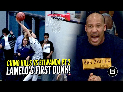 Chino Hills vs Etiwanda Got INTENSE! LaMelo Gets a Clean Dunk & Dad Almost Gets Kicked Out?
