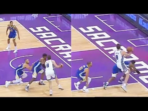 Stephen Curry Shoves Kevon Looney to Play Some Defense! Warriors vs Kings