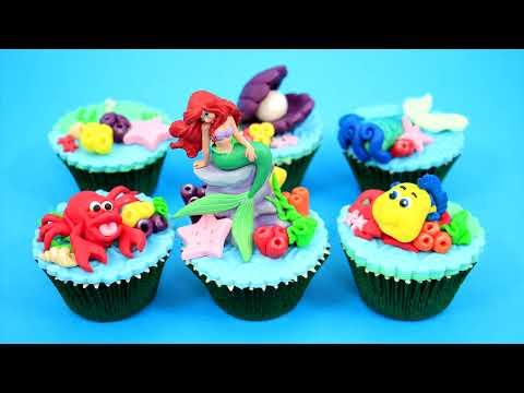Disney Princess ARIEL Underwater Cupcakes  How To Make  by Cakes StepbyStep - UCjA7GKp_yxbtw896DCpLHmQ