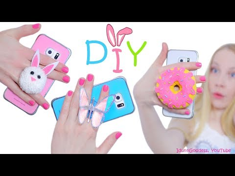 DIY Phone Grips – How To Make Cute Bunny, Donut and Butterfly Popsockets For Your Smartphone