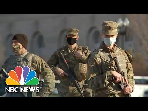 Heightened Security In Washington Ahead Of Inauguration   NBC Nightly News