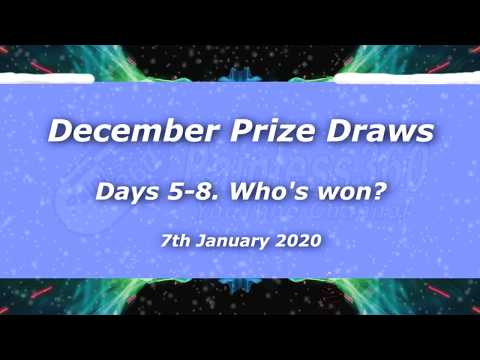 Days of Xmas Prize Draws: Days 5-8 Winners! - UCp1vASX-fg959vRc1xowqpw