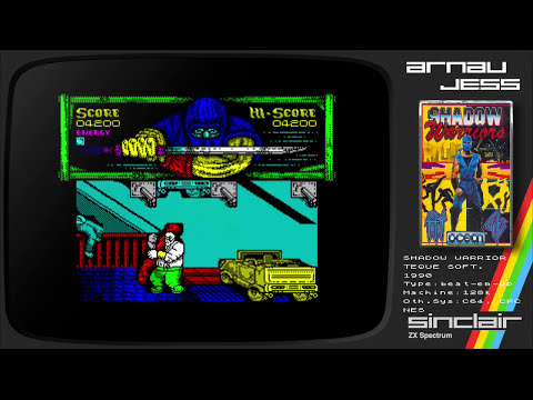 SHADOW WARRIORS Zx Spectrum by OCEAN