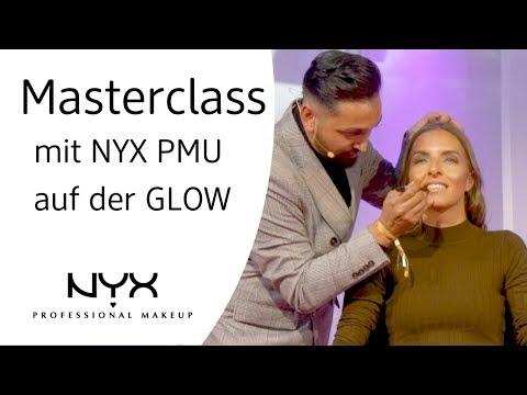 Masterclass mit NYX PMU & Birsen von Babaclass auf der GLOW in Berlin 2019