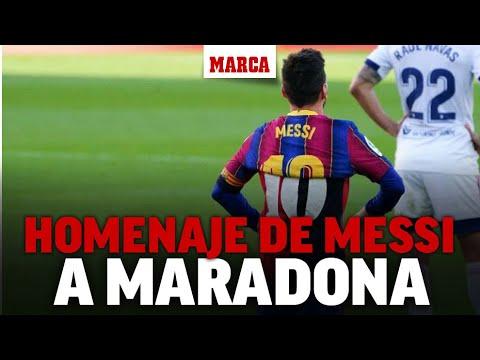 Así fue el homenaje de Messi a Maradona I MARCA