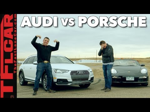 Not Even Close! Audi Allroad vs Porsche Boxster Mashup Drag Race