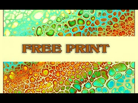 ( 701 ) Acrylic pouring FREE print and a starter set colours