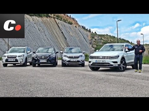 Comparativa SUV | Volkswagen Tiguan vs Mazda CX-5 vs Honda CR-V vs Subaru Forester / Test / Review /