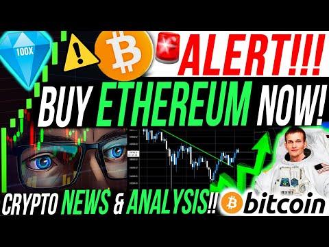 ALERT!!!🚨BUY ETHEREUM NOW!! BITCOIN CRASH IS OVER!?!!!! ALTCOIN & CRYPTO NEWS!!