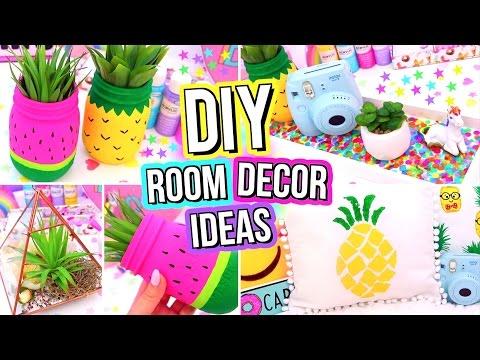 DIY ROOM DECOR IDEAS! Easy & Fun 5 Minute DIY's For Your Room! Summer Room Decor!