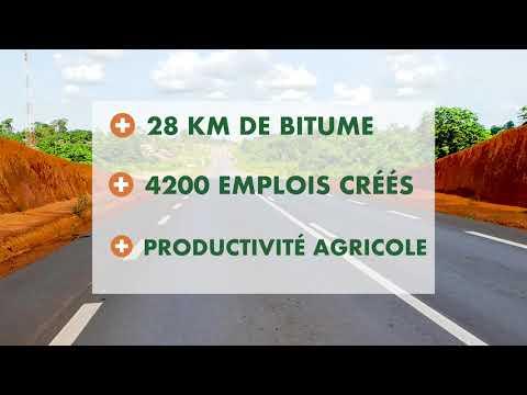 Inauguration de l'axe Adzopé - Yakassé Attobrou, samedi 03 août 2019