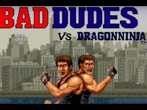 Bad Dudes VS Dragon Ninja One Credit All No miss