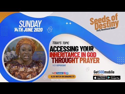 Dr Becky Paul-Enenche - SEEDS OF DESTINY  SUNDAY JUNE 14, 2020