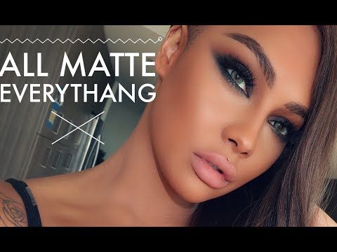 ALL MATTE EVERYTHING BLACK SMOKEY EYE | SONJDRADELUXE - UCsGaCNos3uvLNY-Jyx2uTsQ