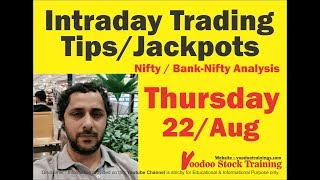 Intraday Jackpot's for 22 Aug 2019 | Free Intraday Tips | Intraday Trading Strategies For Beginners
