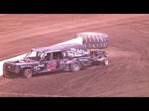 Perris Auto Speedway figure 8 Trailer race 7-28-21 - dirt track racing video image