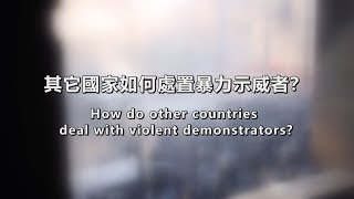 How do other countries deal with violent demonstrators?
