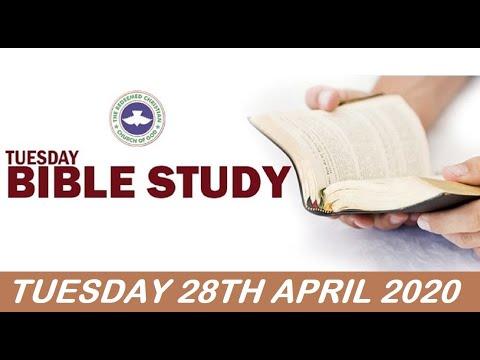 RCCG APRIL 28th 2020 BIBLE STUDY  OBEDIENCE AS KEY