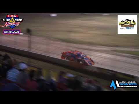 I-94 Sure Step Speedway WISSOTA Modified A-Main (Advantage RV Mod Tour) (7/9/21) - dirt track racing video image
