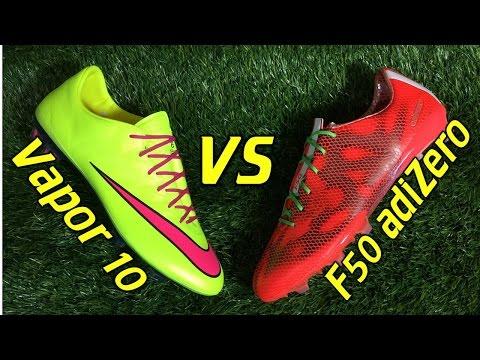 Nike Mercurial Vapor 10 VS Adidas F50 adizero 2015 - Comparison Review + On Feet - UCUU3lMXc6iDrQw4eZen8COQ