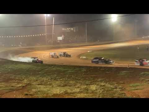 Red Dirt Raceway Sport Mod/B-Mod A-Feature 10/16/2021 Kyle Wiens #18 - dirt track racing video image