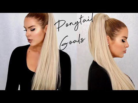 HOW TO: THICKER + LONGER Ponytail Instantly using Foxy Locks Clip in Ponytail - UCOedsFQ4mpPy4zTx9-cKugw