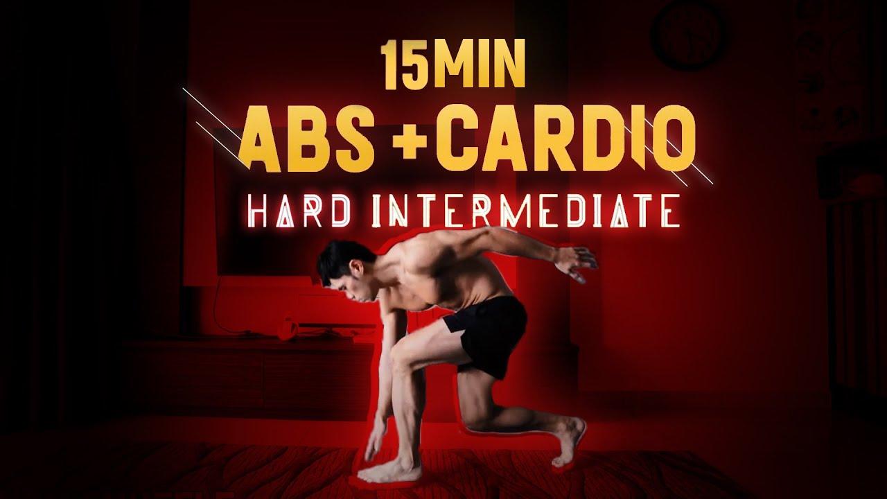 15 Minute Intensive Abs & Cardio (Follow along)