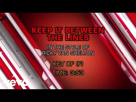 Ricky Van Shelton - Keep It Between the Lines (Karaoke) - UCQHthJbbEt6osR39NsST13g
