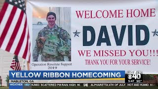 Cob County neighborhood celebrates the return of deployed soldier