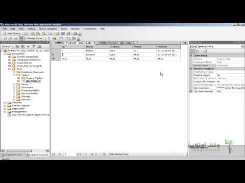 Sql Server 2008- 12- التعامل مع البيانات الجزء 3