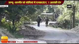 Jammu and Kashmir II One terrorist killed in encounter with security forces in Shopian district