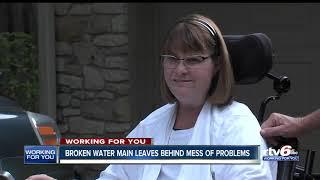 Broken water main leaves behind mess of problems