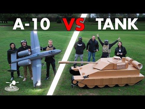A-10 Warthog  VS  Tank - Epic Airsoft Battle - UC9zTuyWffK9ckEz1216noAw