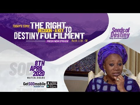 Dr Becky Paul-Enenche - SEEDS OF DESTINY  WEDNESDAY APRIL 8, 2020.