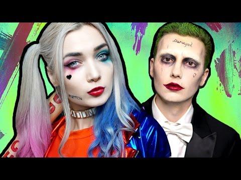 Harley Quinn SUICIDE SQUAD Makeup Tutorial ft. The Joker - UCBKFH7bU2ebvO68FtuGjyyw