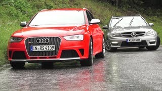 New Audi RS4, Old Audi RS4s, New RS4 v C63. Phew.