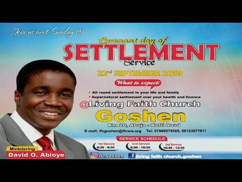 COVENANT DAY OF SETTLEMENT 1ST SERVICE SEPTEMBER 22, 2019