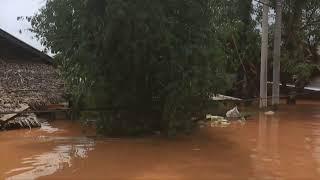 Myanmar battles rising floodwaters after dozens killed in landslide