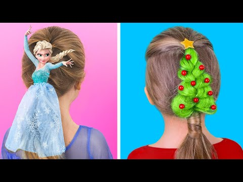 10 Cute Hairstyle Ideas for Girls / Christmas Hairstyle Ideas - UCWwqHwqLSrdWMgp5DZG5Dzg