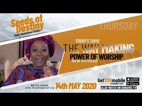 Dr Becky Paul-Enenche - SEEDS OF DESTINY  THURSDAY, 14 MAY, 2020